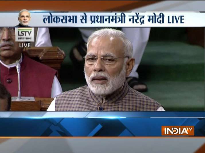 PM Narendra Modi's frontal attack on Congress in his Motion