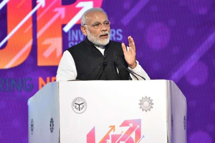Prime Minister Narendra Modi addressing the Uttar Pradesh