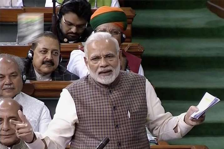 "PM Narendra Modi attacked Congress saying the country been suffering due to the ""wrong"" policies"
