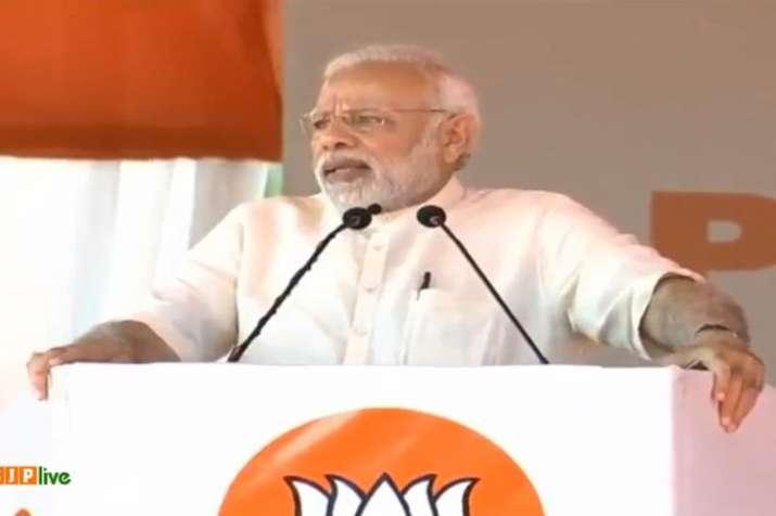 Prime Minister Narendra Modi in Puducherry