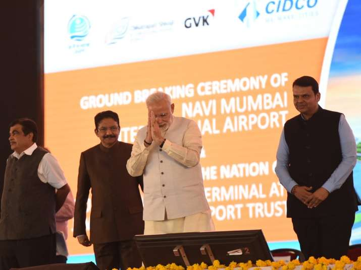 PM Modi lays foundation stone of Navi Mumbai International