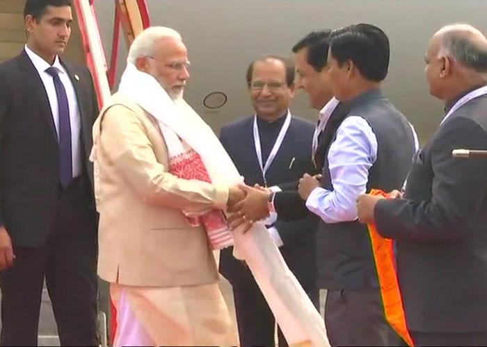 India Tv - PM Narendra Modi arrives in Guwahati.