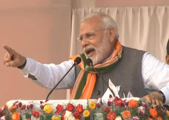 PM Modi addresses rally in Tripura