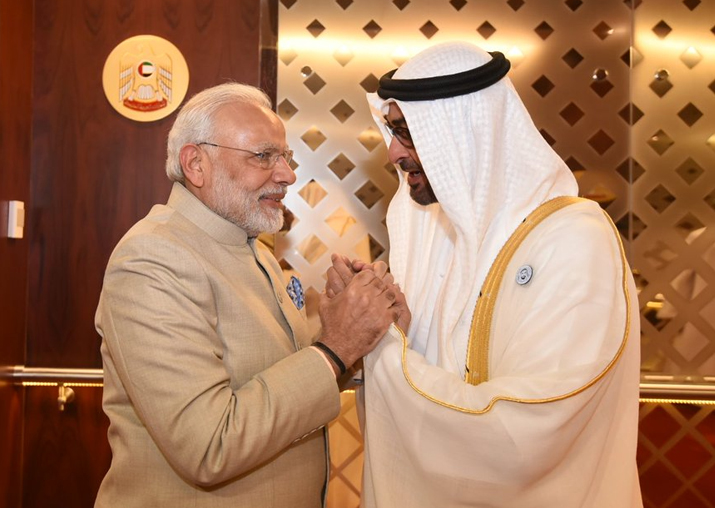 PM Modi personally received by Crown Prince of Abu Dhabi