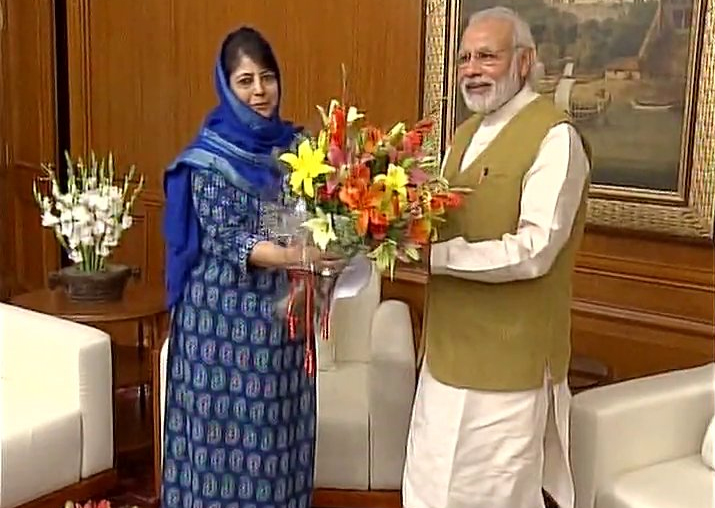 Mehbooba Mufti meets PM Modi in Delhi, discusses situation