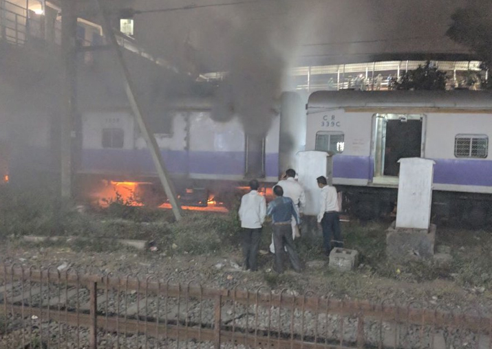 Fire in Mumbai local's coach near Dadar, trains diverted