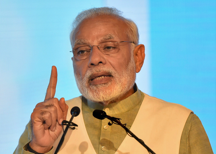 Prime Minister Narendra Modi speaks during India-Korea