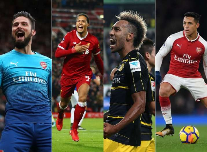 Epl top signings in the premier league winter transfer window image source getty images from left giroud van dijk aubameyang sanchez gumiabroncs Image collections