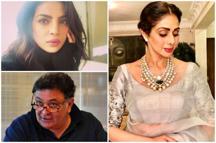 Sridevi, Priyanka Chopra, Rishi Kapoor