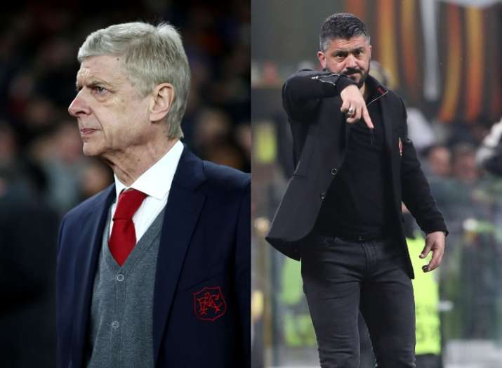 India Tv - A file image of Arsene Wenger and Gennaro Gattuso