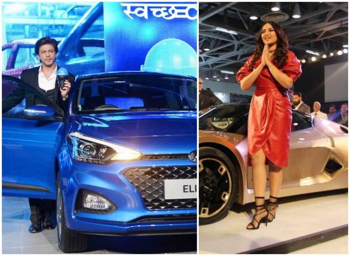 Shah Rukh Khan and Sonakshi Sinha at Auto Expo 2018