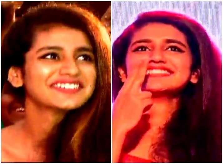 Priya Prakash Varrier at Oru Adaar Love promotions in Kochi