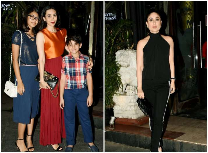 Karisma, Kareena Kapoor Khan at Randhir Kapoor birthday