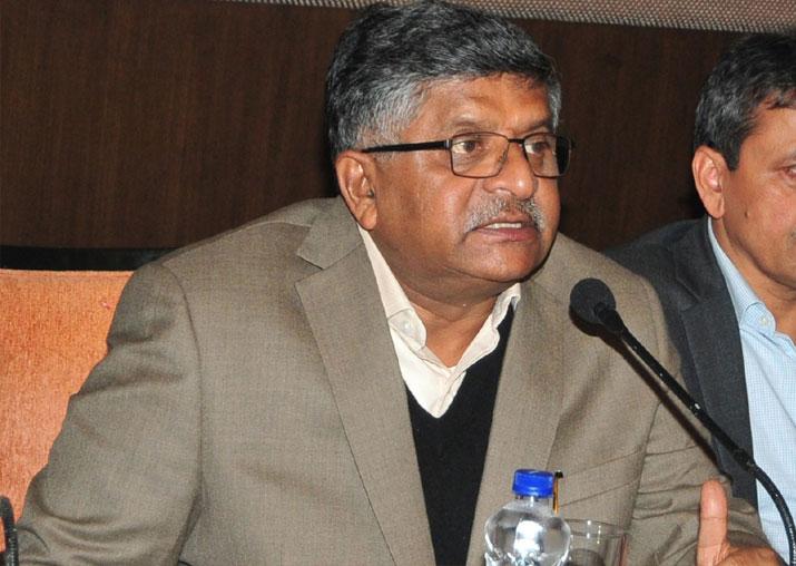 File pic of Union Minister Ravi Shankar Prasad
