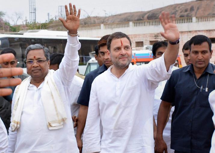 Congress President Rahul Gandhi with Karnataka Chief