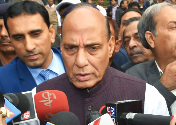 File pic - Rajnath Singh lauds Delhi Police for arrest of