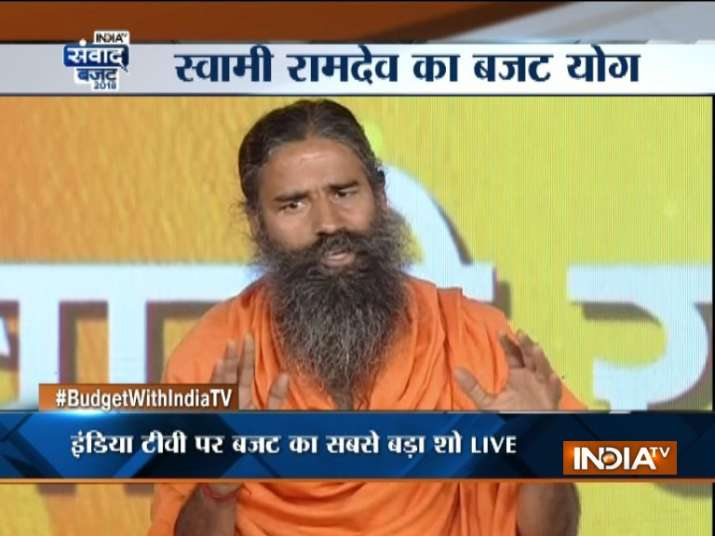 Image Source INDIA TV Middle Class Not Happy With Budget There Should Be No Tax On Income Up To Rs 5 Lakh Says Baba Ramdev