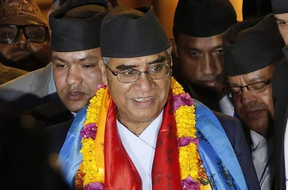 Sher Bahadur Deuba on the day he was elected as Nepal PM