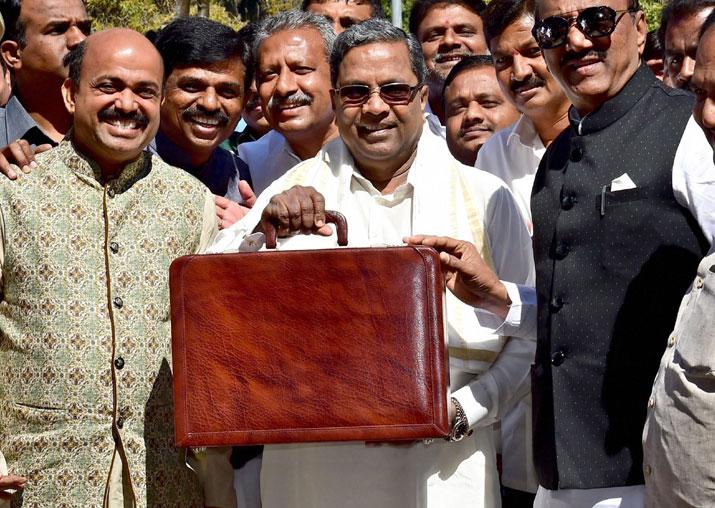 Karnataka CM Siddaramaiah arrives at Vidhana Soudha to