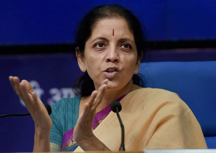 File pic of BJP leader Nirmala Sitharaman
