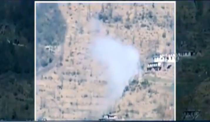 India Tv - Smoke from missile attack by Pakistan