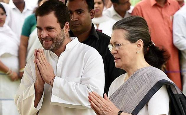 File photo of Congress president Rahul Gandhi with mother