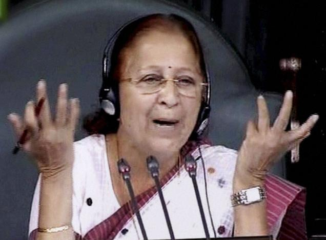 You can't discipline your children: Speaker Sumitra Mahajan