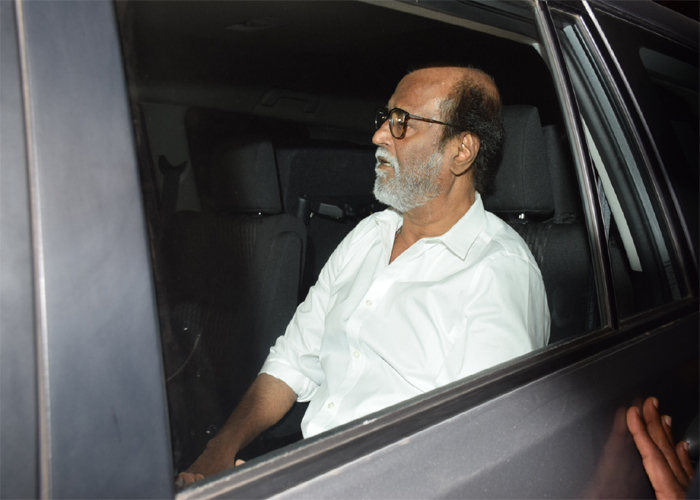 India Tv - Rajinikanth at Anil Kapoor's residence