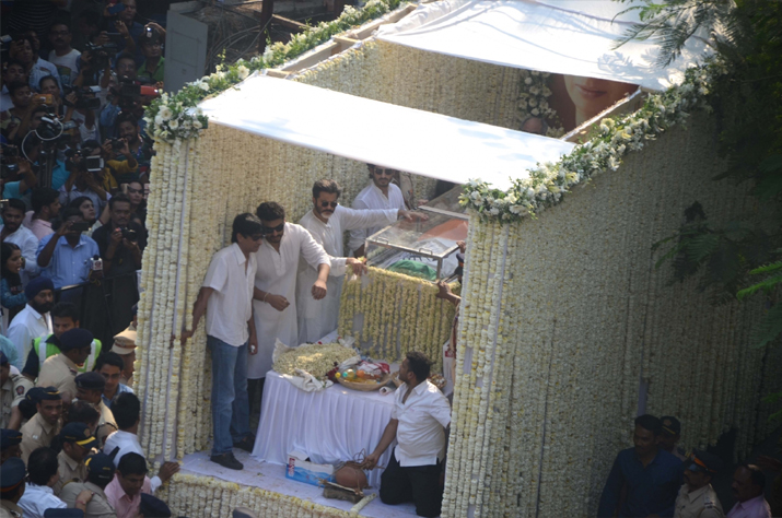 India Tv - Actress Sridevi laid to rest with state honours