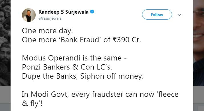 India Tv - Surjewala tweet