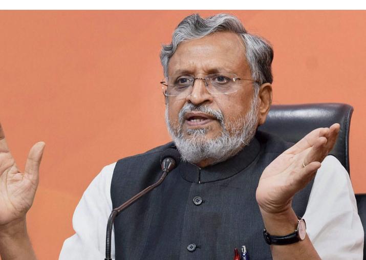 File pic of Bihar Deputy CM Sushil Kumar Modi, who heads