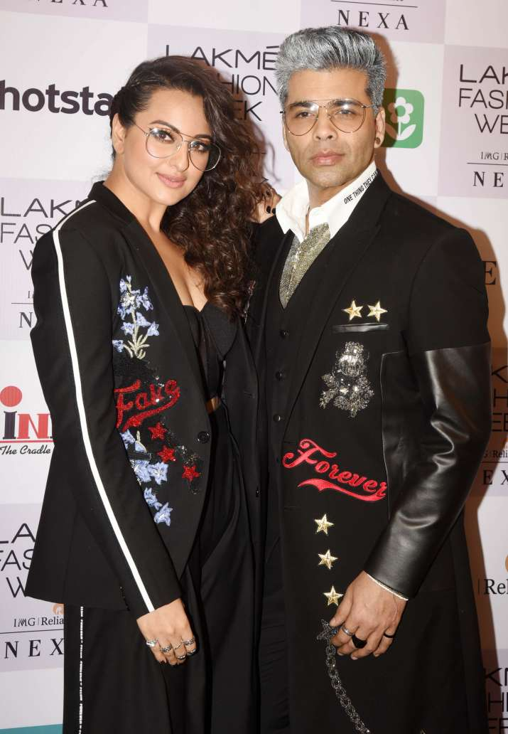 India Tv - Karan Johar and Sonakshi Sinha