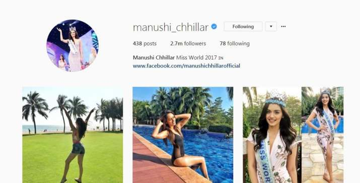 India Tv - Manushi Chillar's Instagram follower