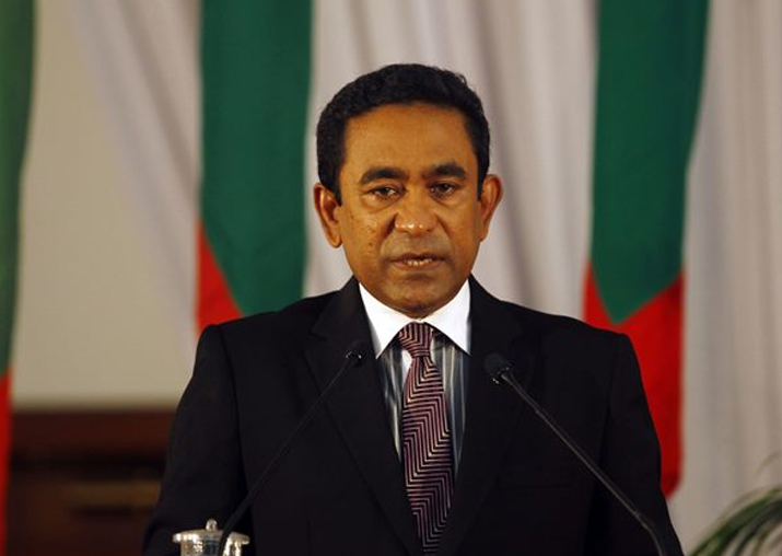 File pic - President Abdulla Yameen