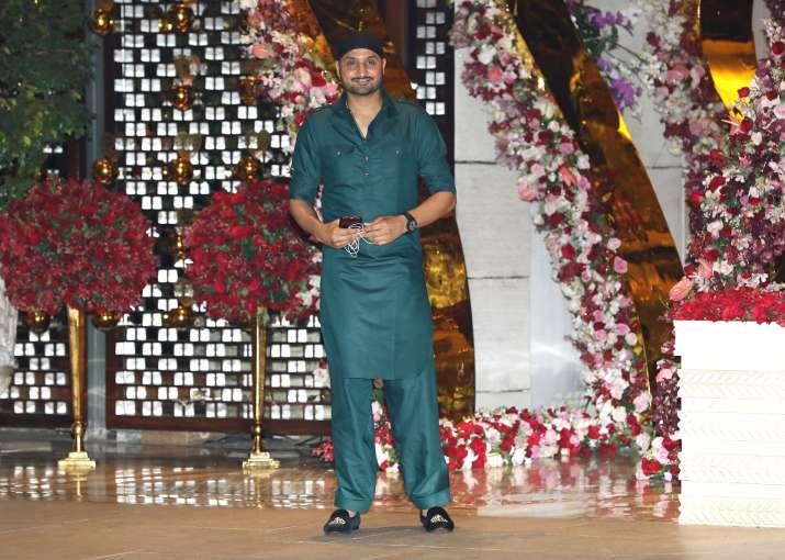 India Tv - Harbhajan Singh at Akash Ambani and Shloka Mehta's party