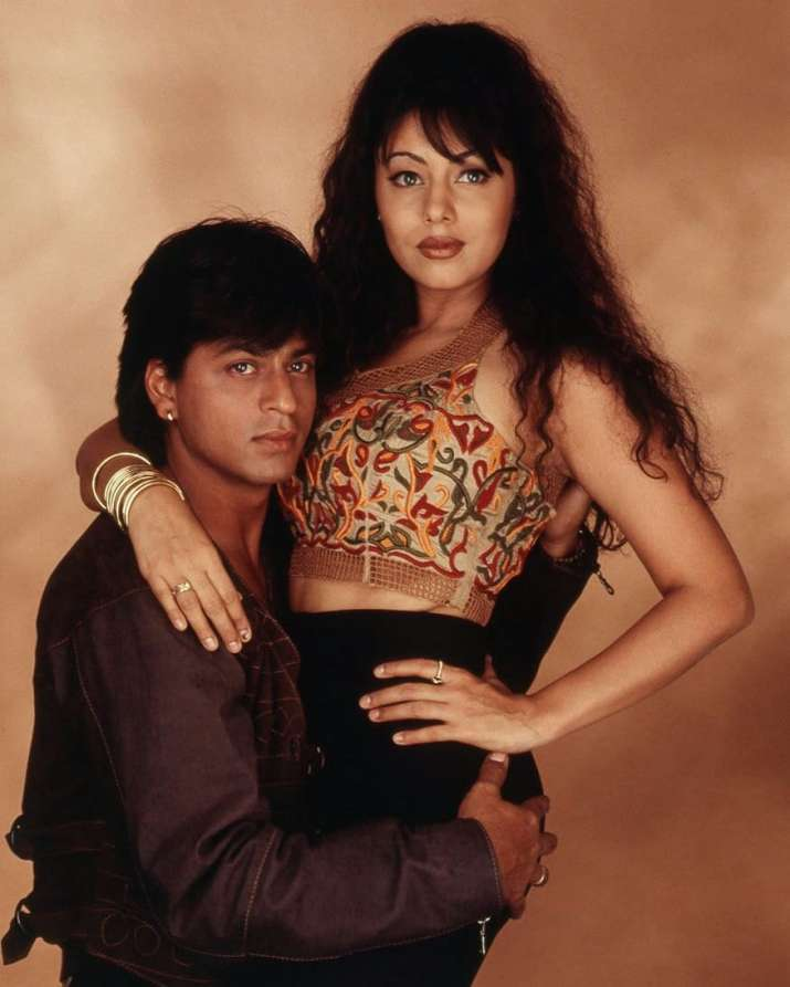 India Tv - SRK and Gauri Khan pose for a photoshoot.