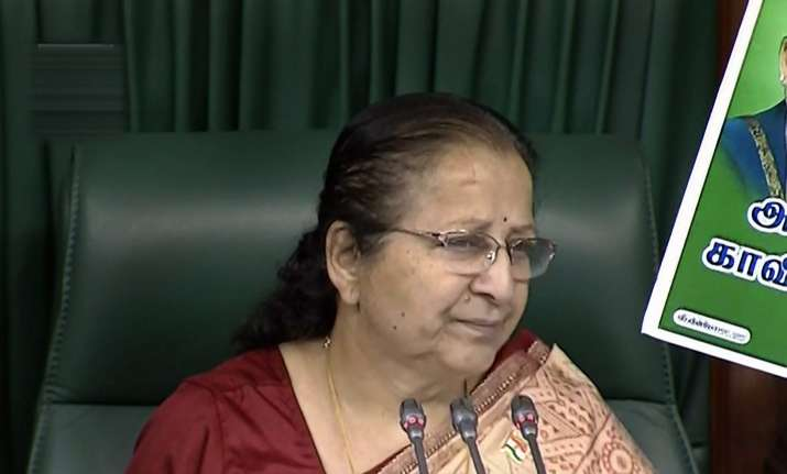 Speaker Sumitra Mahajan meets parties to break logjam in