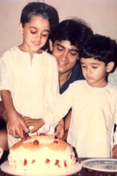 India Tv - Aamir Khan celebrating birthday with nephew Imran Khan and son eldest son Junaid.
