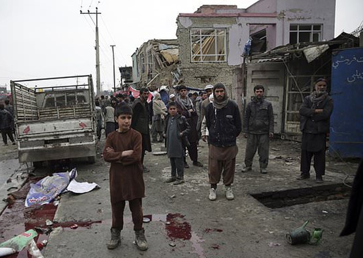 Suicide bomb in Afghan capital kills young girl, wounds 15