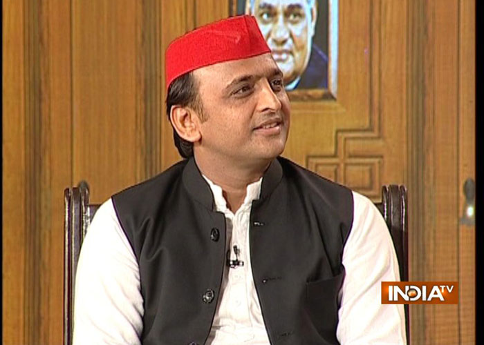 Former Uttar Pradesh chief minister Akhilesh Yadav at India