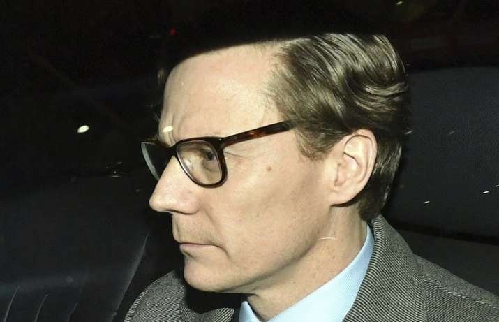 India Tv - Chief Executive of Cambridge Analytica CA Alexander Nix leaving the offices in central London after beig suspended on Tuesday. Cambridge Analytica has been accused of improperly using information from more than 50 million Facebook accounts. It denies wrongdoing.
