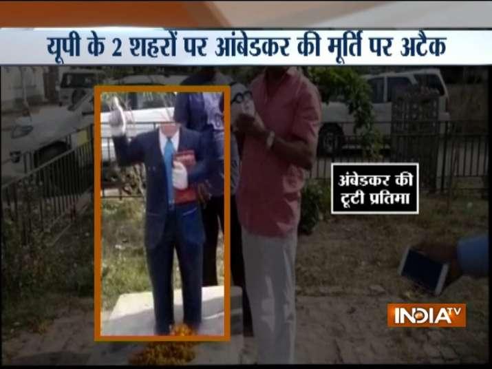 Miscreants vandalise BR Ambedkar's statues in Uttar Pradesh