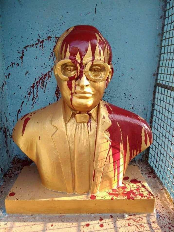 India Tv - Ambedkar bust installed at Thiruvotriyur Periyar Nagar, Chennai