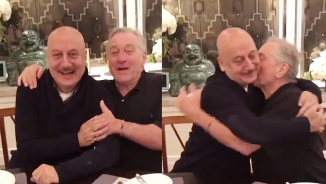 When Anupam Kher treated Robert De Niro with 'Indian hospitality