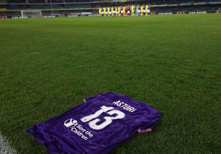 India Tv - A Fiorentina jersey dedicated to the late Davide Astori
