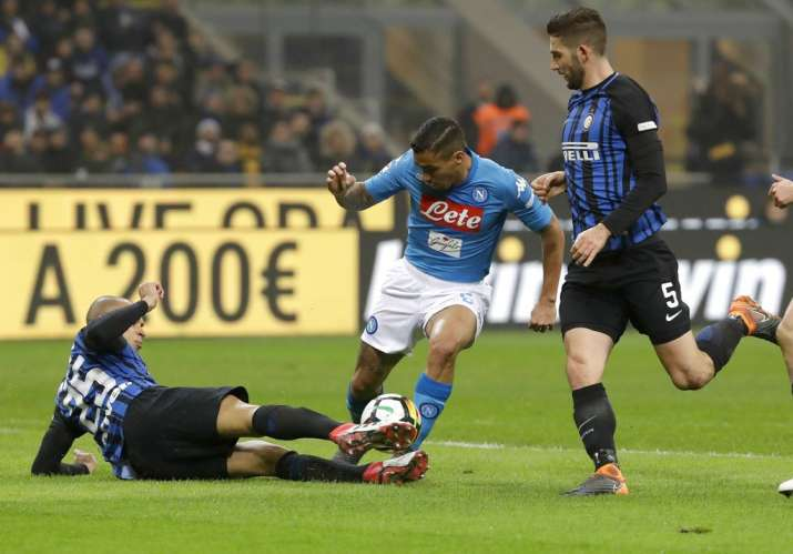 India Tv - A file image of a match between Inter and Napoli