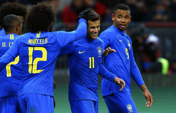India Tv - Coutinho scored a penalty for Brazil.