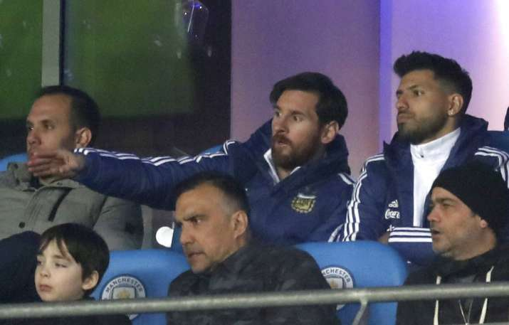 India Tv - Messi and Aguero were benched for the match.