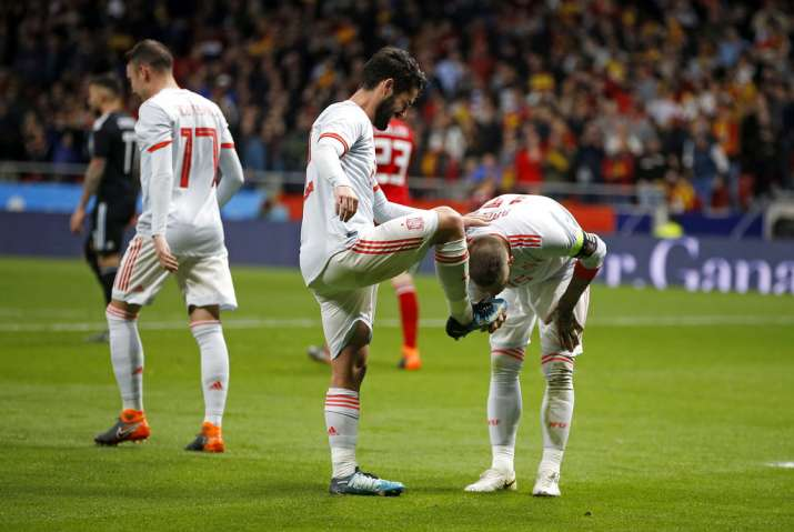 India Tv - Isco scored his first International career hat trick for Spain