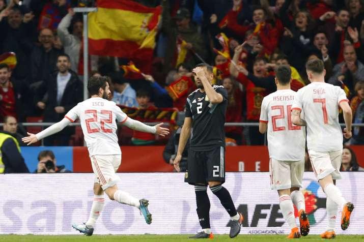 India Tv - Spain decimated Argentina 6-1.